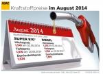 Spritpreise im August weiter gesunken