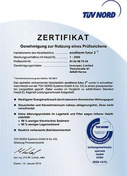 Zertifikat ecoterm futur2