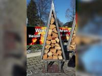 Kaminholzregal Baum 130 cm