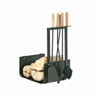Kaminbesteck mit Holzscheitträger 4 tlg.