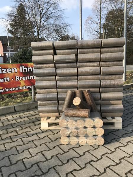 Hartholzbriketts rund Ø 90mm 1 Palette / 960 kg