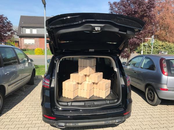 Kofferraumangebot 10 x RUF Brikett 10 kg