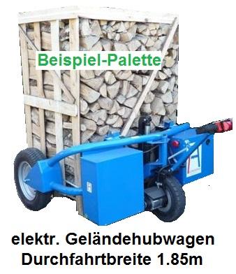 Runde Holzbriketts m. Loch /  Palette
