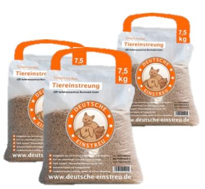 Tiereinstreu Pellets 100% Keimfrei, 65 x  15 kg Palette
