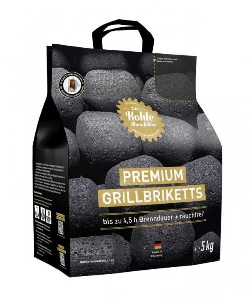 Premium Grillbriketts gr.Tüte + Brennpaste