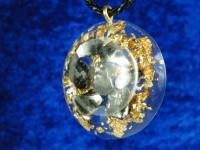 Roter Jaspis-Silber Amulett