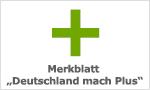 Merkblatt Deutschland macht Plus