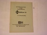 MULTICAR 25 / VORBAUSCHNEEPFLUG / 1981 / BE.