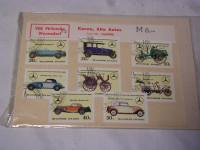 Briefmarken Mercedes-Benz-Typen