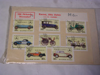 Briefmarken Mercedes-Benz-Typen