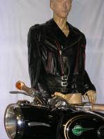 Motorrad-Lederjacke Größe 52