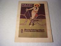 Plakat - Maxim Fahrräder
