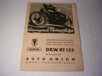 Plakat DKW-RT 125