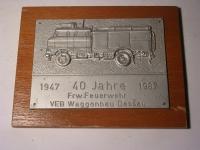 Tafel Frw. Feuerwehr Wagonbau Dessau