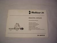 Multicar 25 Vorbaukehrwalze MA22.1 / EL. / 1988