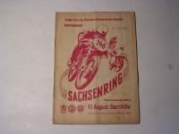 Rennprogramm / Sachsenring / 1958
