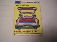 KFT Heft 06/1964/Test Wartburg 1000 Kombi