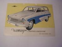 Prospekt Wartburg 311-Camping-Limousine / 1962