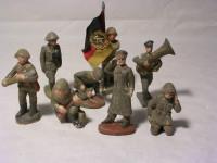Kleine Spielzeug-Armee