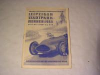 Rennprogramm Leipziger Stadt-Parkrennen 1953