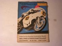 Rennprogramm / Sachsenring -1961