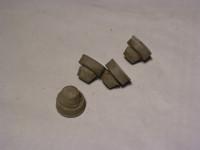 Gummipuffer Motorhaube / grau