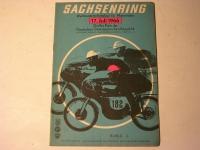 Rennprogramm / Sachsenring / 1966