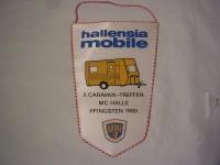 Wimpel 2. Caravan-Treffen / Hallensia Mobile 1980