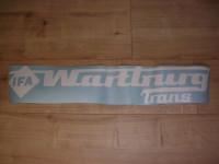 Schriftzug Wartburg-Trans / weiß