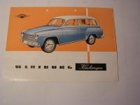 Prospekt Wartburg 311 Kombi / 1959