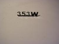 Schriftzug 353W