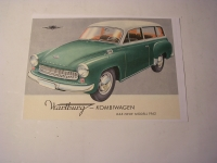Prospekt Wartburg 311 Kombi / 1962
