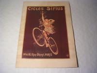 Plakat - Cycles Sirius / Fahrrad-Werbung