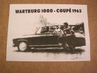 Prospekt Wartburg 1000-Coupe /1965