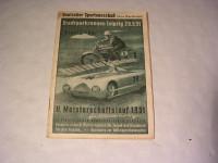 Rennprogramm Stadtpark-Rennen Leipzig 1951