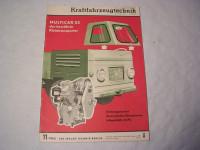 KFT Heft 11/1965 / Varianten des Multicar M22