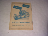 Programmheft Leipziger Stadtpark-Rennen / 1957