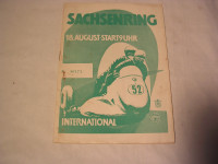 Rennprogramm Sachsenring 1957