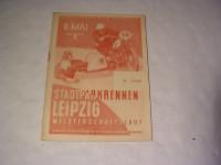 Rennprogramm Stadtpark-Rennen Leipzig / 1955