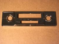 Chrom-Blende für Berlin-Radio / 18,5 x 5,5 cm