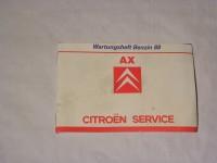 Citroen-Wartungsheft - AX