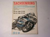 Rennprogramm / Sachsenring / 1964
