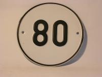 Blechschild 80 Kmh / Anhänger