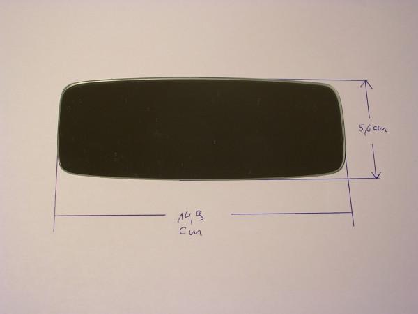 Spiegelglas Innen-Wendespiegel/14,9x6,6cm