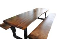 Tisch mit Design Eisenfuß, 170x90x75cm