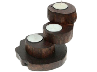 Kerzenständer Luhu, Teakholz lackiert