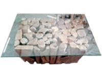 Couchtisch Namber , Teakholz und Glas ca. 120cm x 100cm x50 cm