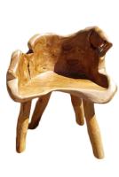 Stuhl Waiwo . Teakholz , lackiert  45 cm x 40 cm x 65 cm
