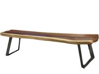 Bank Pundu mit Design-Eisenfuß, 200cm x 40cm x 45 cm