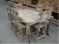 Tisch Timur und Stühle - Set, 220x120x75